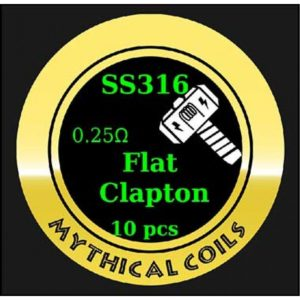 Mythical Vapers Flat Clapton SS316 - Vaping Services