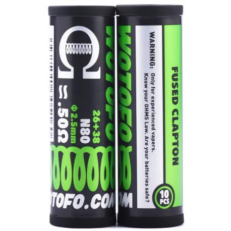 Wotofo έτοιμες αντιστάσεις fused clapton - Vaping Services