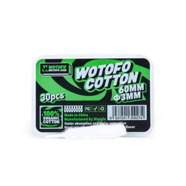 Οργανικό βαμβάκι Wotofo large pack - Vaping Services