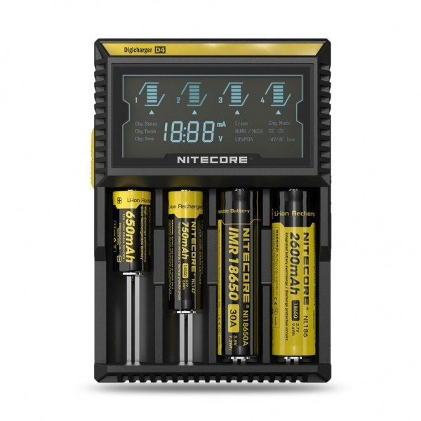 Φορτιστής Nitecore digicharger d4 - Vaping Services