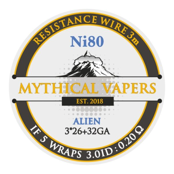 Mythical Vapers Alien 3m ni80 - Vaping Services