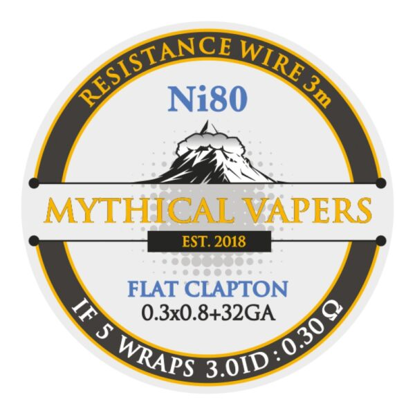 Mythical Vapers Flat Clapton 3m ni80 - Vaping Services