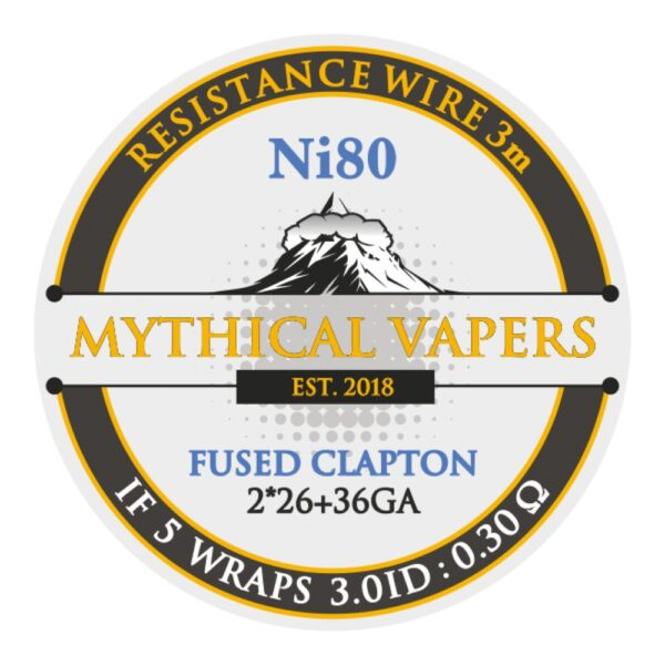 Mythical Vapers Fused Clapton 3m ni80 - Vaping Services