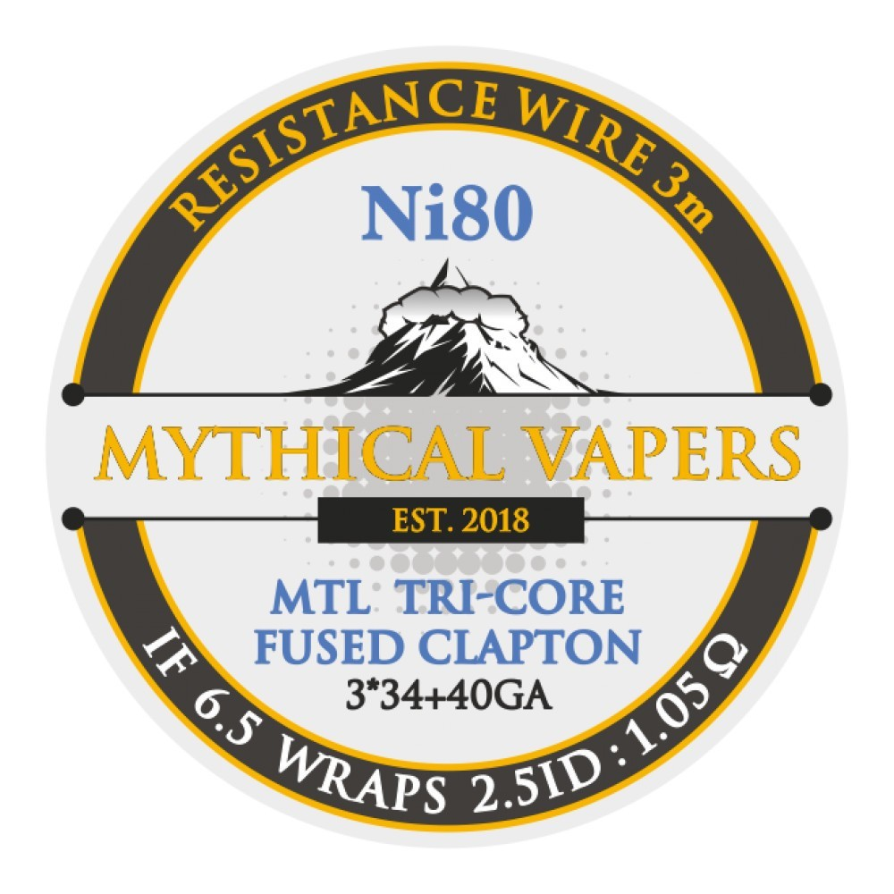 Mythical Vapers Mtl tri - core fused clapton ni80 3m - Vaping Services